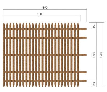 palissade lattes verticales r f mod v551 am nagement et quipement palissade et. Black Bedroom Furniture Sets. Home Design Ideas