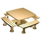 """Acheter Table carrée quatre bancs à Fixer Gamme """"Style"""" - Châtaignier au meilleur prix"""