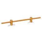 Acheter Clôture basse à poteaux rainurés et lisse rectangulaire - Châtaignier au meilleur prix