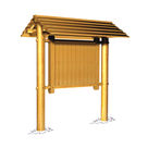 Acheter Grand panneau pour affichages ou informations, avec toiture en clins -  Châtaignier au meilleur prix