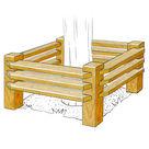 Acheter Protection d'arbre en bois rabotés - Châtaignier au meilleur prix