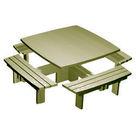 """Acheter Table carrée quatre bancs Gamme """"Style"""" - Solution Pin au meilleur prix"""