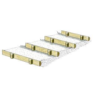 marches d 39 escalier et bordures en demi rondins solution pin r f d1001b am nagement et. Black Bedroom Furniture Sets. Home Design Ideas