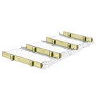 Acheter Marches d'escalier et Bordures en demi-rondins - Solution Pin au meilleur prix