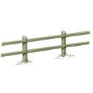 Acheter Clôture haute à 2 lisses rectangulaires - Solution Pin au meilleur prix