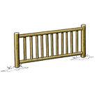 Acheter Eléments de clôture haute à barreaux (2 lisses) - Solution Pin au meilleur prix