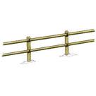 Acheter Clôture haute à 2 lisses demi-rondes - Solution Pin au meilleur prix