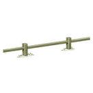 Acheter Clôture basse à poteaux rainurés et lisse rectangulaire - Solution Pin au meilleur prix