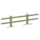 Acheter Clôture haute à poteaux rainurés et 2 lisses rectangulaires - Solution Pin au meilleur prix