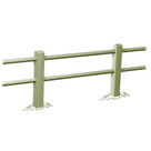 Acheter Clôture haute à 2 lisses rondes - Solution Pin au meilleur prix
