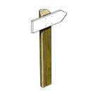 Acheter Panneau directionnel - Poteau demi-rondin - Solution Pin au meilleur prix