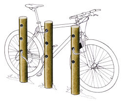 Appui vélos - Solution Pin