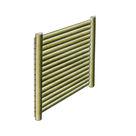 Acheter Panneaux écrans - Pares-vue à lames horizontales demi-rondes (dos à dos avec poteau) - Solution Pin au meilleur prix