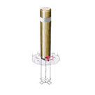 Borne ronde rétro-réfléchissante - Amovibilité Cadenas Pompier - Solution Pin