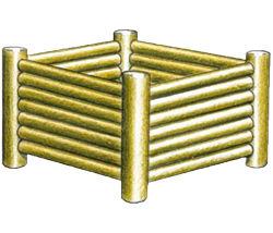 Jardinière carrée - Solution Pin