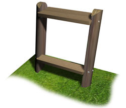 assis debout monoplace solution pin r f d0053a banc. Black Bedroom Furniture Sets. Home Design Ideas
