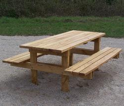 """Table Pique-nique Gamme """"Style"""" - Châtaignier"""