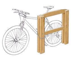 Appui vélos mixte (adultes - enfants) - Châtaignier