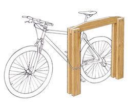 Appui vélos adultes - Châtaignier