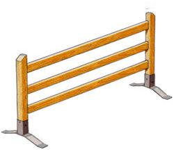 Barrière mobile à 3 Lisses - Châtaignier