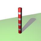 Acheter Borne ronde de balisage à 4 bandes blanches rétro-réfléchissantes - Solution Pin au meilleur prix