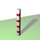 Acheter Borne ronde de balisage à 4 bandes rouges rétro-réfléchissantes - Solution Pin au meilleur prix