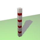 Acheter Borne carrée de balisage à 4 bandes rouges rétro-réfléchissantes - Solution Pin au meilleur prix