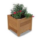 Acheter Jardinière carrée 4 lames à Poser - Châtaignier au meilleur prix