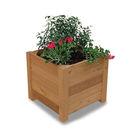 Acheter Jardinière carrée 5 Lames à Poser - Châtaignier au meilleur prix