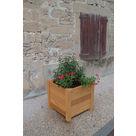 Jardinière carrée 5 Lames à Poser - Châtaignier - image 1