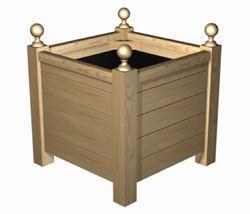 Bac carré à boules 5 Lames à Poser - Châtaignier
